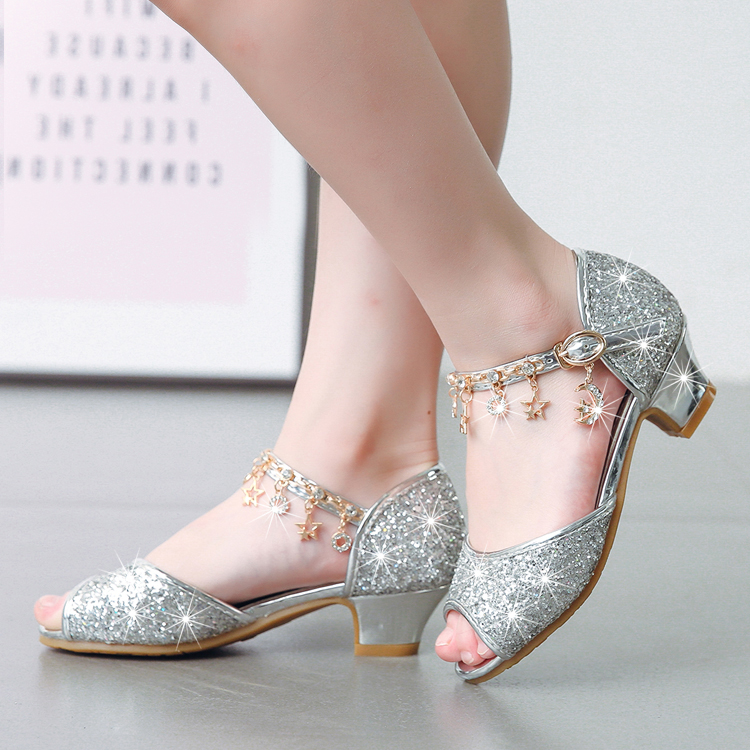 c732646ca19 Detail Feedback Questions about Girls  fish mouth sandals 2018 summer  little princess shoes high heel children s fashion crystal shoes trend on  ...