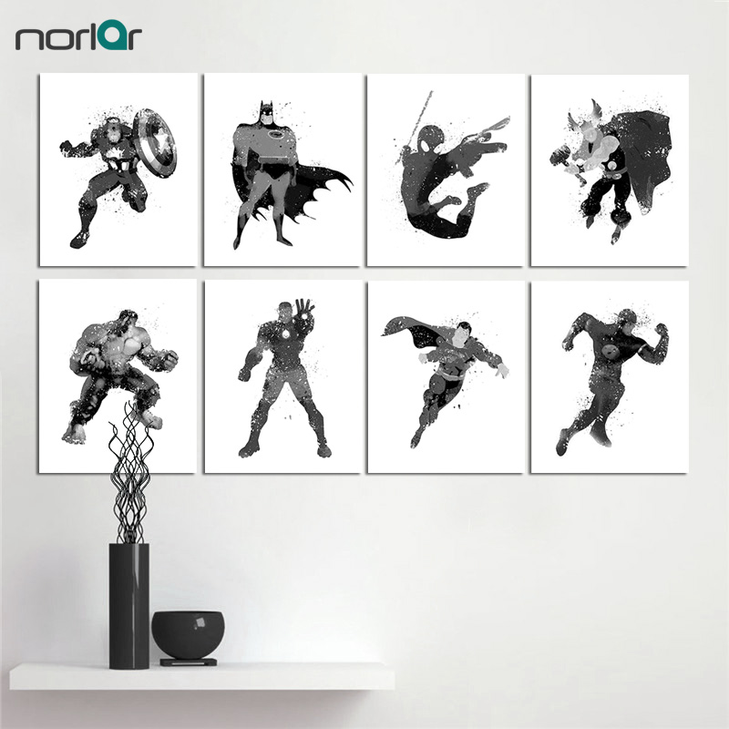 Marvel The Avengers Spiderman Abstract Wall Art Print on 100/% Cotton Paper