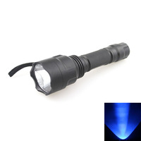C8 365nm UV Torch Inspection Detection Ultra Violet Flashlight SEOUL 5W 365nm Blacklight for Pets Stain Detector (1x18650)