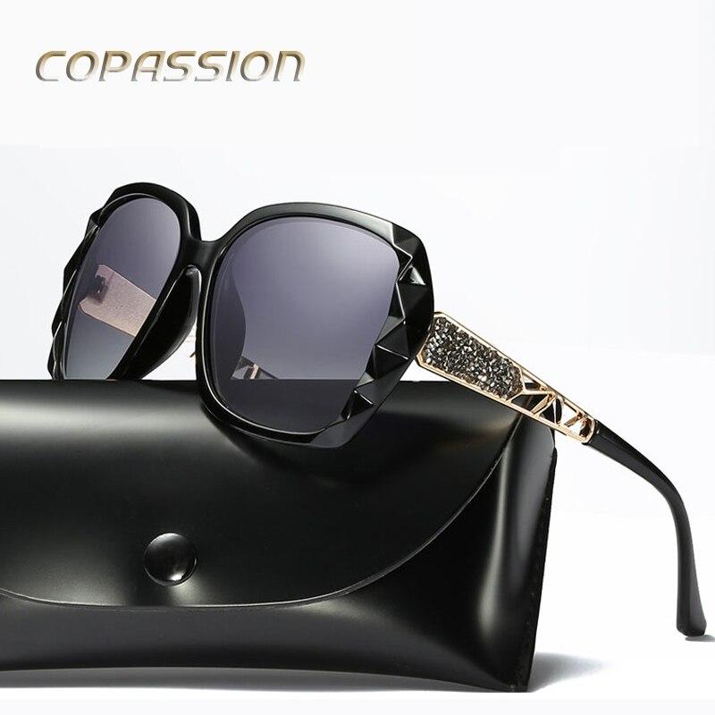 2017 Элитный бренд Дизайн поляризационные Солнцезащитные очки для женщин Для женщин элег ...