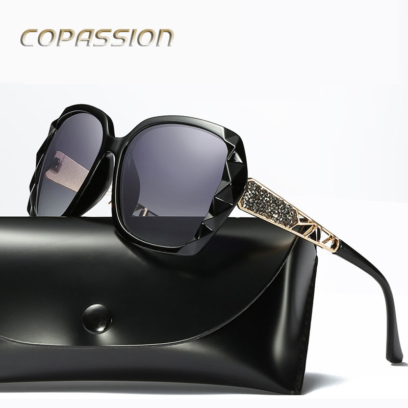2017 Luxury Brand Design Polarized Sunglasses Women Ladies Elegant Big Sun Glasses Female Prismatic Eyewear Oculos De Sol Shades ...