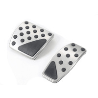 Car Styling 2pcs Set Car Nonslip Steel ABS Accelerator Brake Pedal Kit Cover For Jeep Renegade
