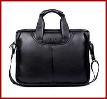 2015 Mens briefcase business Shoulder bag Men messenger bags Tote Designer Computer Laptop Leather POLO Bag Men's Travel Bags