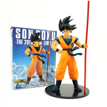 24cm Super Son Goku The 20th Film Limited Action Figure Toy Movie Dragon Ball Z PVC Figures Collectible Model Doll Toys Gift shf s h figuarts dragon ball z kid child son goku gokou pvc action figure collectible model toy