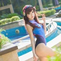 Anime Swimsuits Cosplay Costume D VA SUKUMIZU Spandex Swimsuit DVA Costume Anime Cosplay Su Ku Water