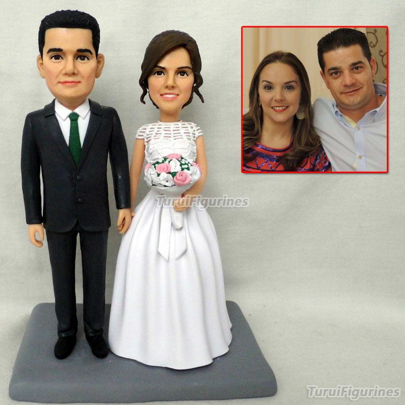 Special Gift Wedding Toys Mini Wax Figure Custom Birthday Bride And