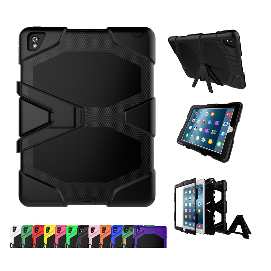 Heavy DUTY WITH STAND Shockproof Dirt Proof Armor Rubber Hybrid Case For Apple Ipad Pro 12.9 Inch