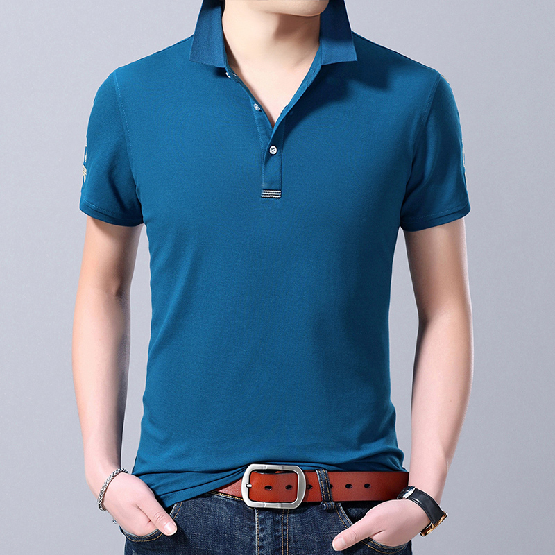 2019 New Fashion Brand Designer Clothing   Polo   Shirt Mens Summer Slim Fit Short Sleeve Stand Collar   Polos   Casual Mens Clothing