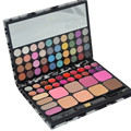 Profissional Eyeshadow Makeup Palette Nuetral Lip Gloss e corte + escova combinação 72 cores de maquiagem definir Leopard caso