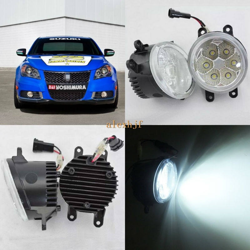 July King 18W 6500K 6LEDs LED Daytime Running Lights LED Fog Lamp Case for Suzuki Kizashi 2010-2016, over 1260LM/pc july king 18w 6500k 6leds led daytime running lights led fog lamp case for peugeot 107 2012 2015 over 1260lm pc