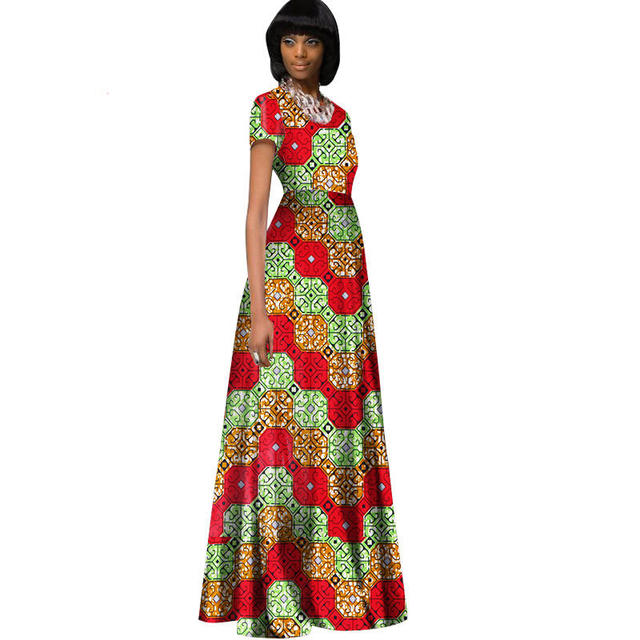 African Dresses For Women Elegant O neck Plus Size Evening Dresses ...