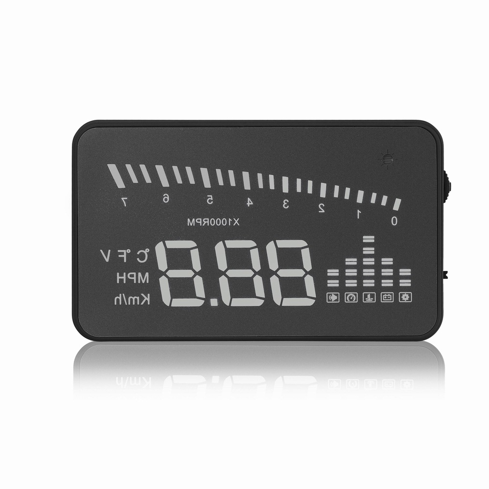 Image 5 - X5 Car Hud Head Up OBD 2 Display Digital Speedometer Overspeed Alarm Auto Windshield Projector OBD ii Car Electronics-in Head-up Display from Automobiles & Motorcycles