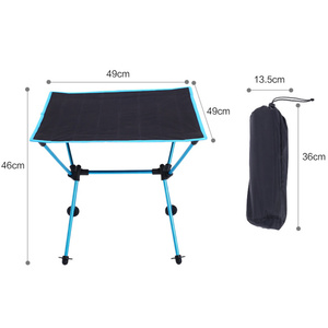 Image 5 - Portable Lightweight Outdoors Table For Camping Table Aluminium Alloy Picnic BBQ Folding Tables Outdoor Tavel Portable Tables