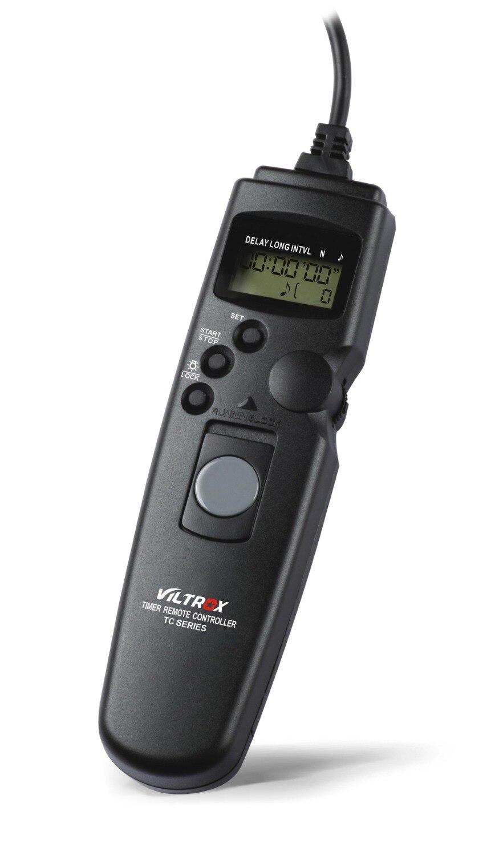 Viltrox Caméra LCD Minuterie Télécommande Câble Déclencheur pour Canon 7D Mark II 6D 5D 5DII 5 DIII 1D 50D 40D 30D 20D