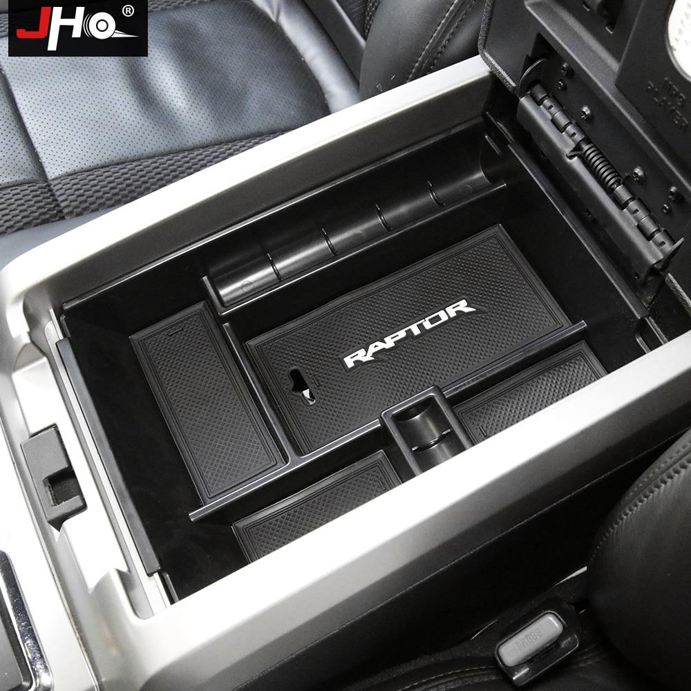 JHO accoudoir Central boîte de rangement pour Ford F150 Raptor 2011-2018 12 13 2014 2015 2016 17 accessoires de ramassage de conteneur de camion avant