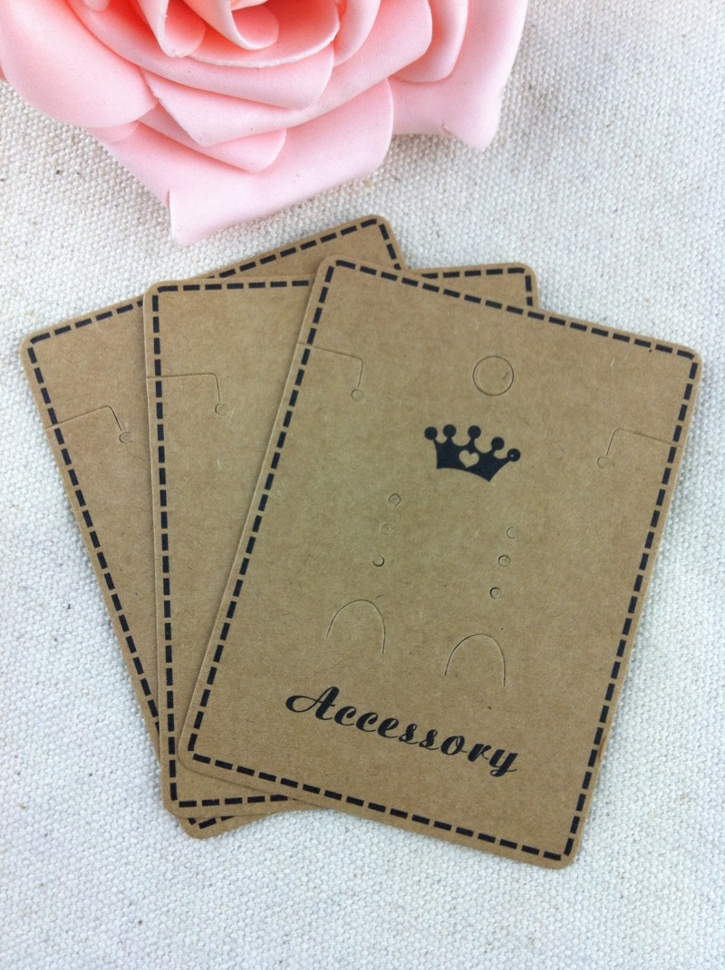 Wholesale Jewelry Packaging Best Offer Wholesale 200pcs Lot Brown Paper Crown Custom
