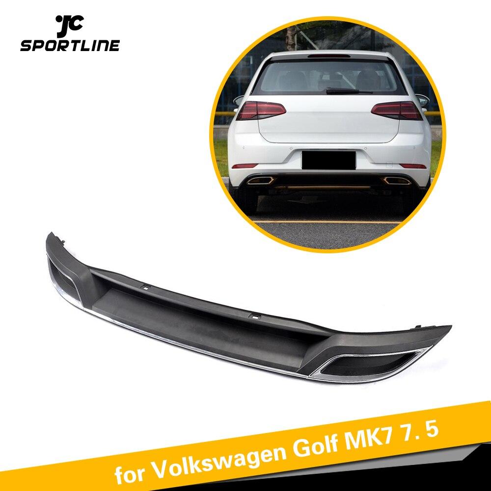 Auto Black PP Rear Bumper Diffuser Lip Spoiler For Volkswagen VW Golf 7 MK7 7.5 Standard And GTI 2017 2018 2019