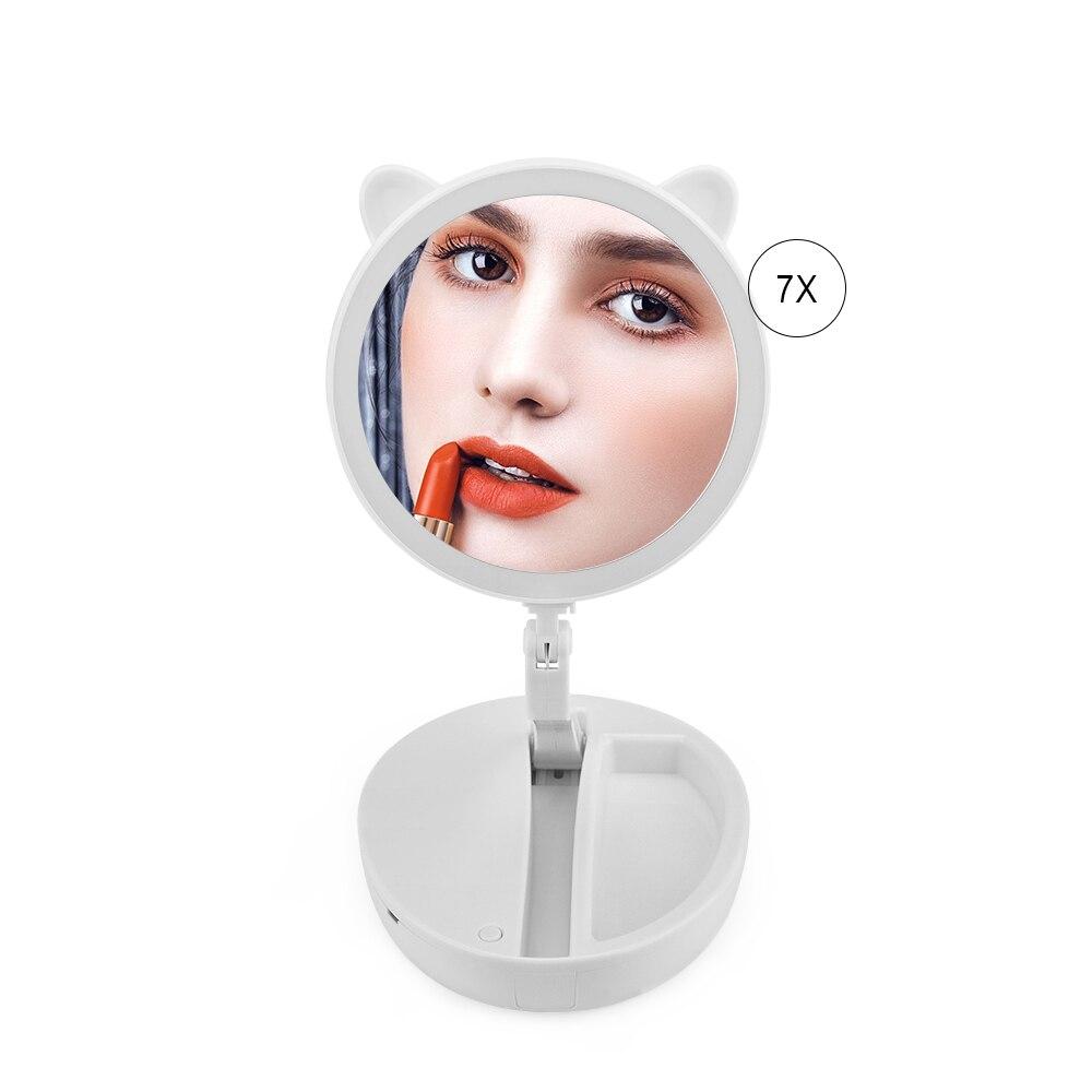 Professioneller Verkauf Desktop-make-up Spiegel Desktop Cute Eitelkeit Spiegel Tragbare Mini Kleine Holz Prinzessin Dekorative Schönheit & Gesundheit Spiegel