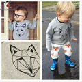 2016 Autumn New Born Baby Boy Clothes Set Long Sleeve Fox Print Toddler Girls Tracksuit And Pants Fashion Children Clothing sets