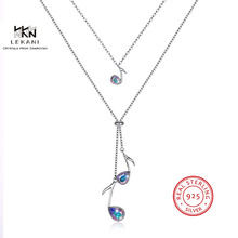LEKANI Crystals From Swarovski Necklace925 musical Note Gift Necklace Prom Long Ladies Exquisite Accessories