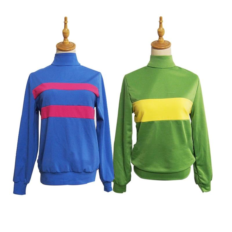 Game Undertale Chara Frisk Cosplay Costume Halloween Unisex Sweatshirts+Pants Casual Pullover Long Sleeve Coat Custom Made