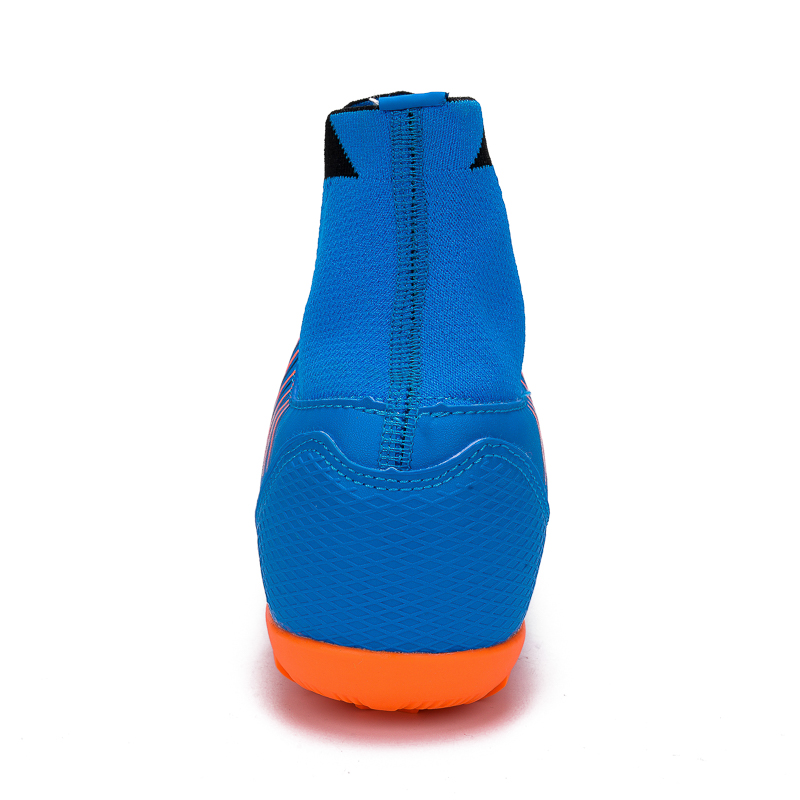 04fc3a62c Sneakers LEOCI Men s Blue Orange High Ankle Turf Sole Indoor Cleats  Football Boots Shoes Kids Soccer Cleats EU size 31-46 voetbalschoenen