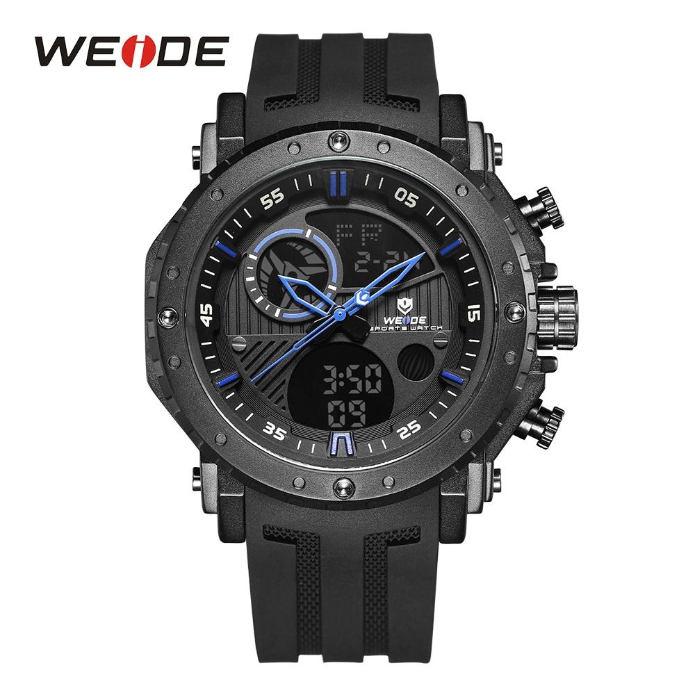 WEIDE Men's Military Watch Chronograph Back Light Alarm Date Calendar Analog LCD Digital Display Relogio Masculino Wristwatch bag khs075vg1ba g83 38 29 lcd calendar