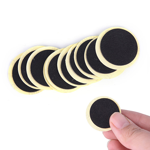 10PCS Cycling Mountain/Road Bike Tyre Puncture Fast Repair Tools black  Bicycle Inner Tire Patches Without Glue