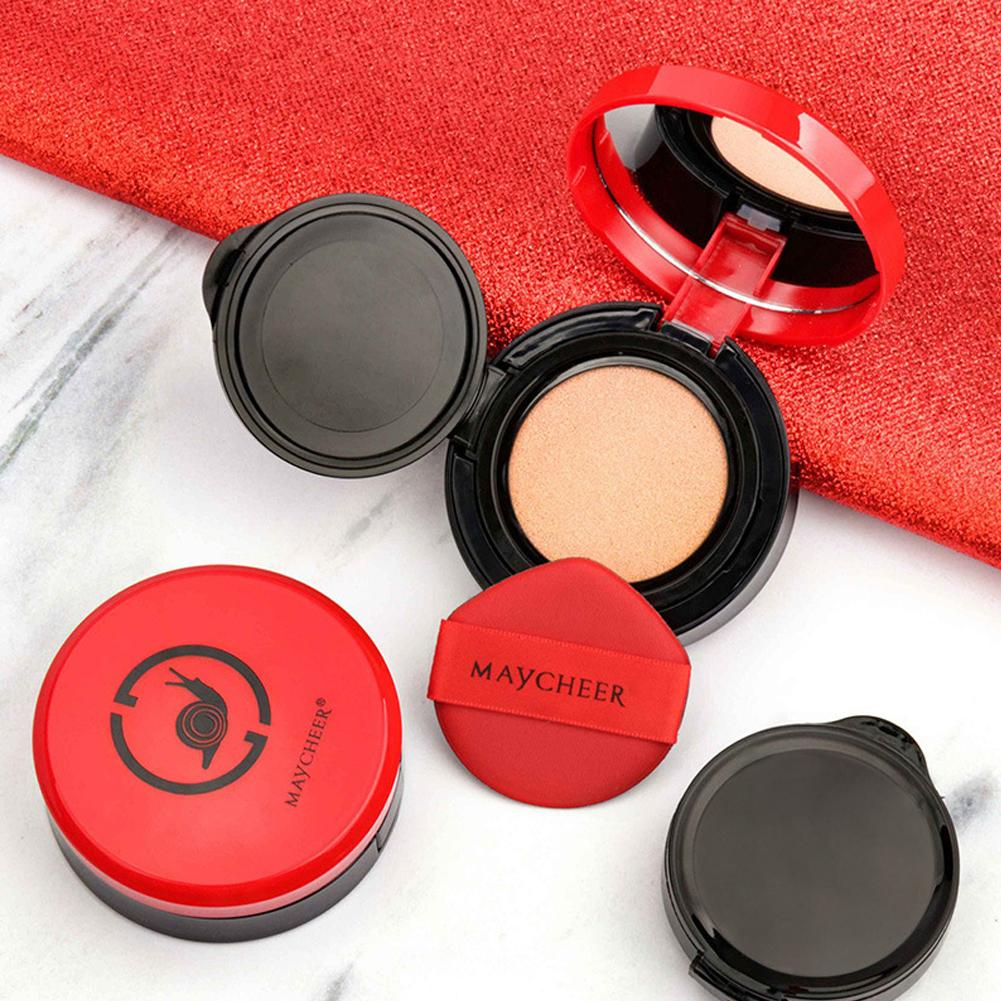 2Pcs Snail Air Cushion CC Cream Concealer Moisturizing Foundation Women Face Whitening Makeup Foundation Powder Beauty Cosmetic image