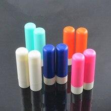 10/20/30/50 Uds., 12,1mm, protector labial de plástico, botella vacía recargable de colores, tubos de bálsamo labial de moda de 4ml