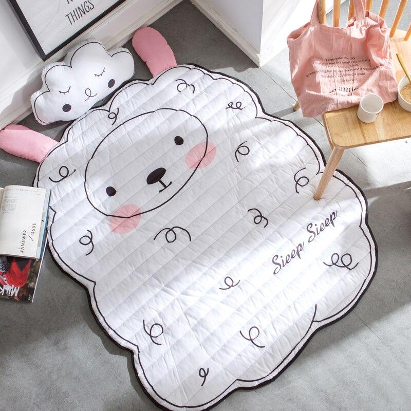 Ins chaud belle couverture de bande dessinée jeu tapis de jeu ours bébé mouton ours oie Animal tapis automne hiver enfants salon chambre