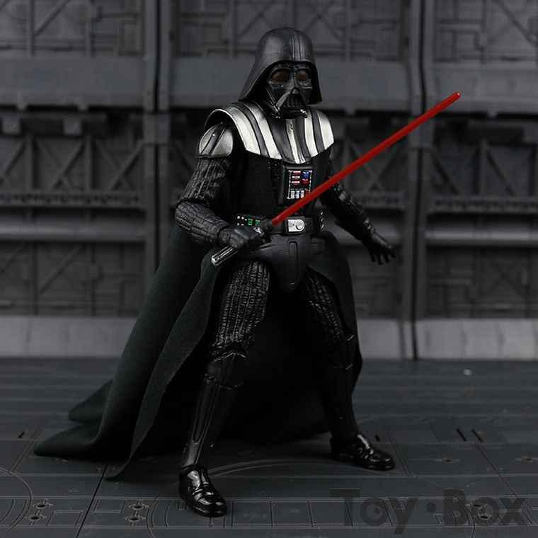 Movie Star Wars The Force Awakens Black Series Darth Vader 02 15cm Toy Pvc