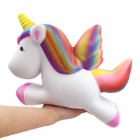 Fly Horse Jumbo Kids Animal Squishy Slow Rising Big kawaii Bunny Squishies Gadget Novelty & Gag Toys For Children Stress Relief