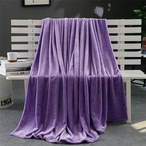 Image 5 - סופר רך חם מוצק חם מיקרו קטיפה שמיכת צמר שטיח ספה מצעים כפול כיסוי המיטה שמיכות למיטה מכסה