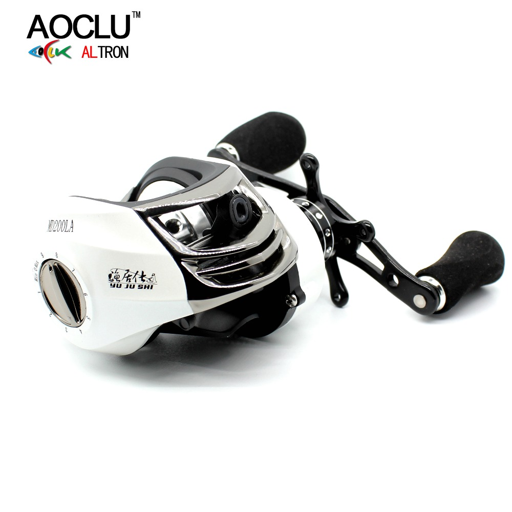 AOCLU super smooth Baitcasting Reel 7+1 stainless steel ball bearings Max Drag Power to 8KG Right/Left Handed Fishing Reel