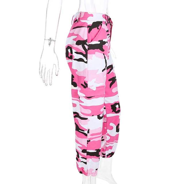 Weekeep Women 2017 High Waist Demin Camouflage Pants Fashion Jean Trousers Pantalon Mujer Pencil Military Camo Pencil Pants 2
