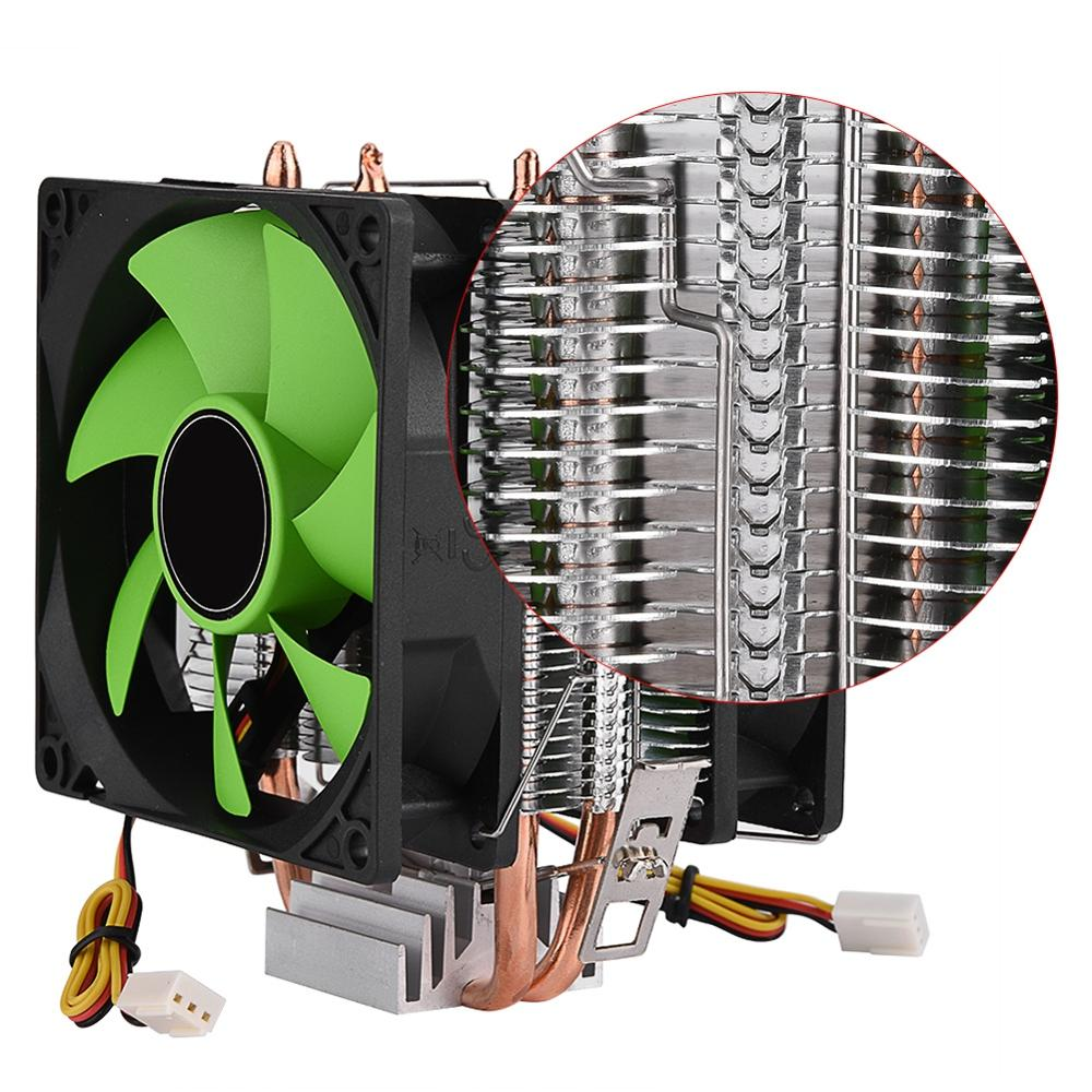 Image 5 - 90mm 3Pin CPU Cooler Heatsink Quiet fans for Intel LGA775/1156/1155 for AMD AM2/AM2+/AM3 Dual sided Fan Free Shipping cpu fan-in Fans & Cooling from Computer & Office