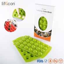 Liflicon Lollipop Sticks  Silicone Pop Cakes Tray Moule Cake Pops Baking Tarts Non-Stick Kitchen Tools 24 Cavities