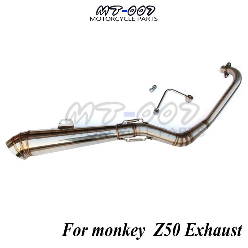 Z50 spare parts Stainless steel Exhaust System Monkey Bike Exhaust muffler motocross motocycle free shipping brand new 5 color monkey bike z50 plastic kit monkey bike parts