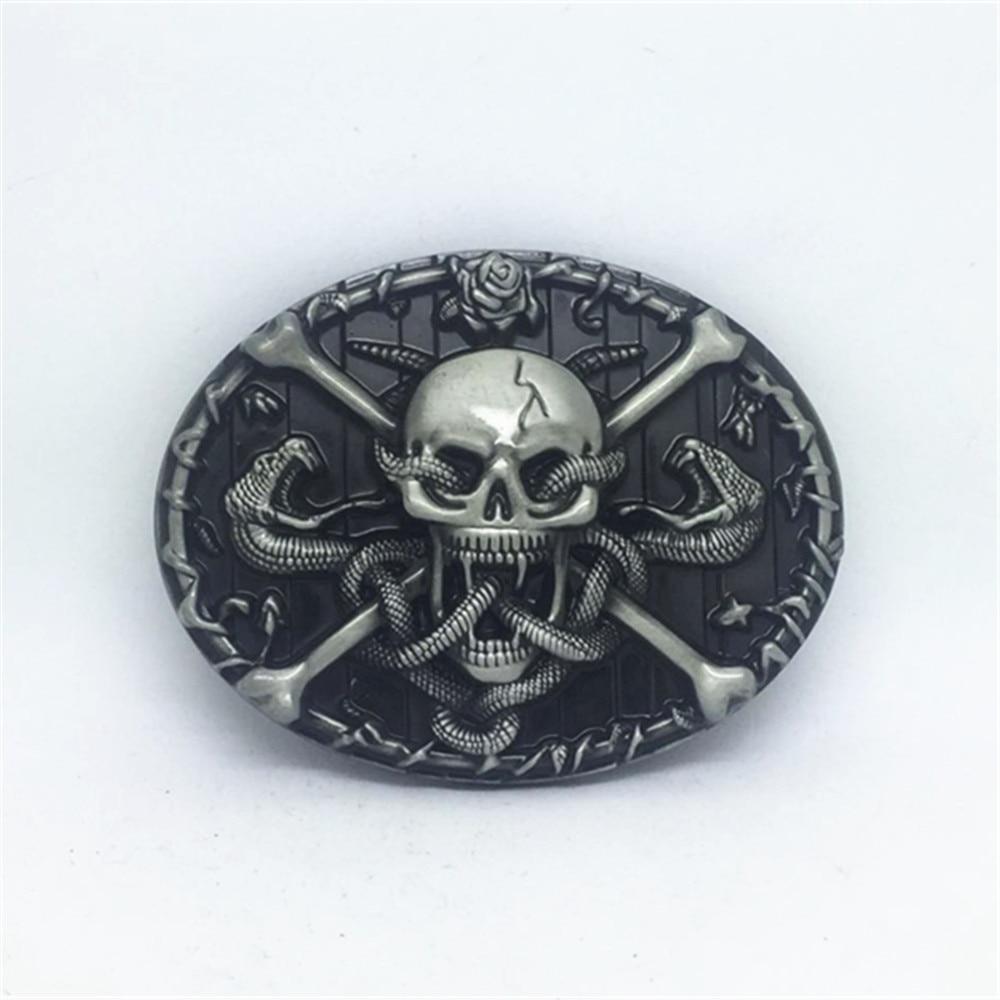 American original skull - west jean belt buckle