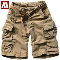 2018 Summer Men New Style Board Shorts High Quality Mens Cargo Shorts Casual Shorts with belt 10 Colors size S M L XL XXL XXXL