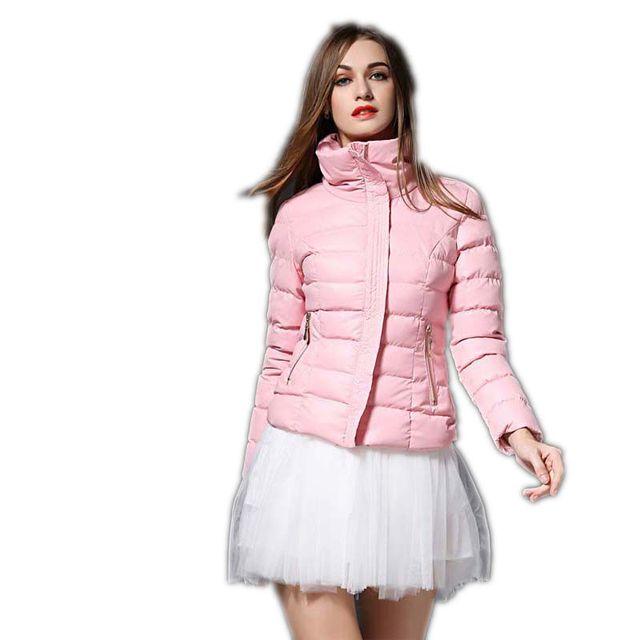 Alta Qualidade Mulheres Jaqueta de Inverno Casaco Curto Para Baixo 2017 Novo moda Mulheres jaqueta de Inverno Feminino Fino Engrossar Casacos Quentes Parka M336