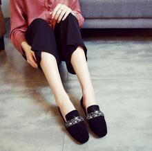 купить Rhinestone Shoes Women Flats 2019 Plus Size Moccasins Ladies Lazy Loafers Slip On Casual Fashion Female Footwear  Spring Autumn онлайн