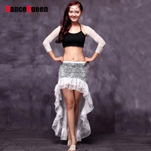2017 New Sexy Belly Dancing Costumes 4pcs(Shawl+Skirt+Leggings+Vest) Danca Do Ventre Bollywood Dance Costumes