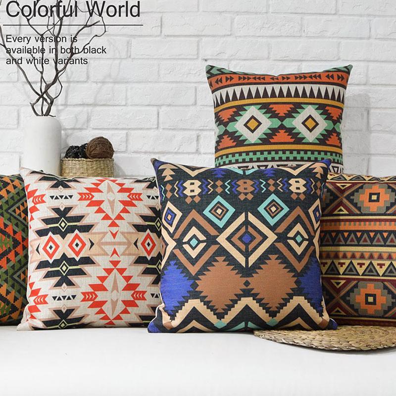 nordic americana almohada decorativa cubre cojines decoracin para el hogar creativo y suave bohemio campo decorativo