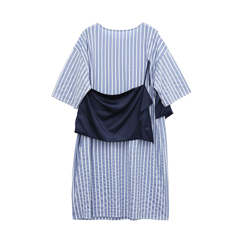 Genou Femmes xitaoNouvelles Pleine Robe longueur Ample Tenue 2019 Wbb2273 Picture Décontractée See Été Printemps Corée Mode Nouveau O Manches cou Femelle thQdsrC