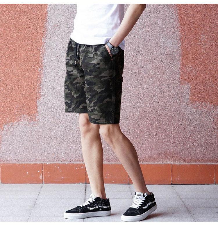 Aolamegs Camouflage Shorts Men Military Style Casual Camo Shorts Men\`s Summer New Fashion Streetwear Elastic Waist Beach Shorts (7)