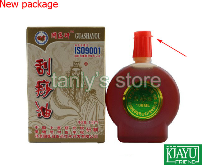 Wholesale and retail Traditional Acupuncture Massage Tool Guasha Oil 100ml piece 10pieces lot