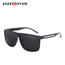 SPEEDHYUN Brand Fashion Black Sunglasses