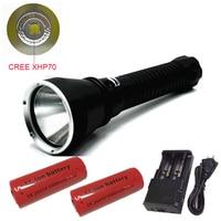 Super Brightness Cree XHP70 LED Flashlight Light 6000 Lumens Diving Flashlight Tactical 26650 Torch Underwater 100M